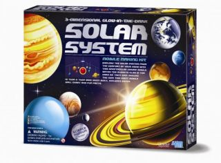 3D Glow-In-The-Dark Solar System Mobile