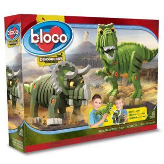 Bloco - T-Rex & Triceratops