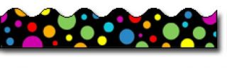 Borders_Scalloped - Big Rainbow Dots #CD1255