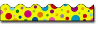 Borders_Scalloped - Colorful Dots #CD1246