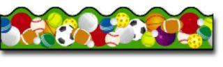 Borders_Scalloped - Sports Balls #CD1233