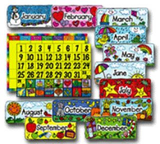 BulletinBoard - Calendar Set: Kid-Drawn