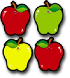 ColorfulCut-Outs/AssortDesign Apples #CD5555