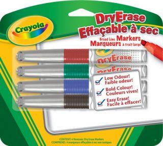 Crayola Markers DryErase Broad Line Markers 4 colors