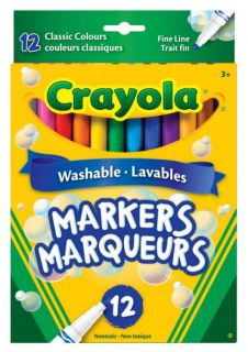 Crayola Markers Fine Line 12 Colors