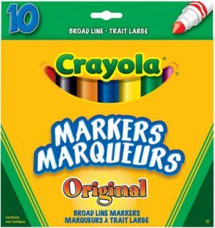 Crayola Markers Original Broad Line 10 Colors