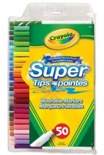 Crayola Super Tips Markers 50 Colors