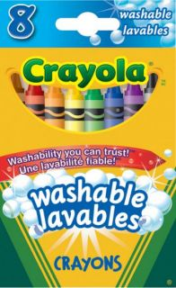 Crayola Washable Crayons 8 Colors