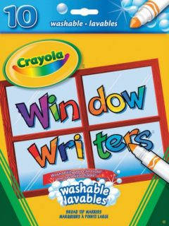 Crayola Window Writers Broad Tip Markers10 Colors