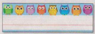 Desk Nameplates - Colorful Owls #122029