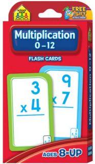 Flash Cards - Multiplication 0 - 12
