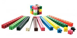 Hex-A-Links 2 cm Interlocking Cubes - Set of 100