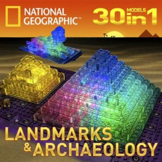 Laser Pegs National Geographic Landmarks & Archaeology - 30 in 1 Models Kit