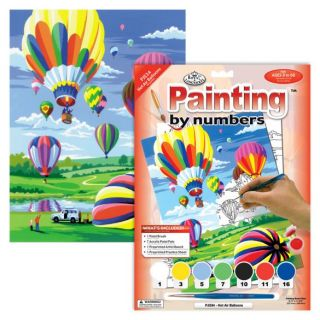 Painting By Numbers - 7 Colors Set : Hot Air Balloons
