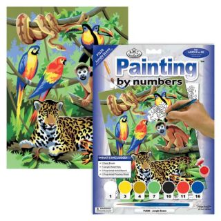 Painting By Numbers - 7 Colors Set : Jungle Scene