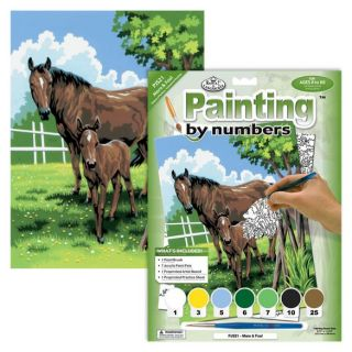 Painting By Numbers - 7 Colors Set : Mare & Foal