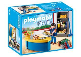 Playmobil #9457 - School Caretaker with Kiosk