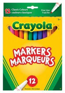 Crayola Markers Original Fine Line 12 Colors