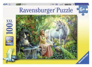 Ravensburger 100 pcs Puzzle - Princess and Unicorn