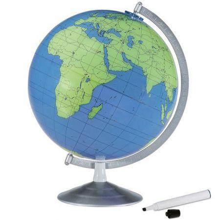 "12"" World Globe - ""Write and Erase"""
