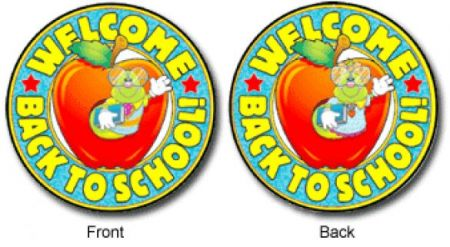 2-Sided Decoration - Welcome Back To School #4161