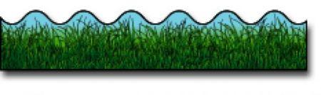 Borders_Scalloped - Grass #CD1222