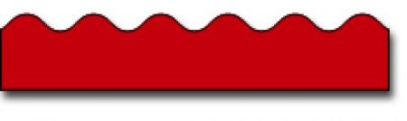 Borders_Scalloped - Red #CD1215