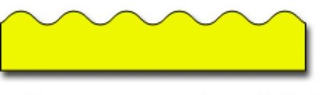 Borders_Scalloped - Yellow #CD1217