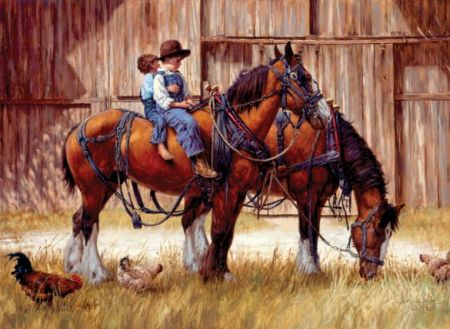 Cobble Hill 1000 pcs Puzzle - Back to the Barn