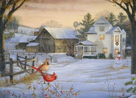 Cobble Hill 1000 pcs Puzzle - Countryside Cardinals
