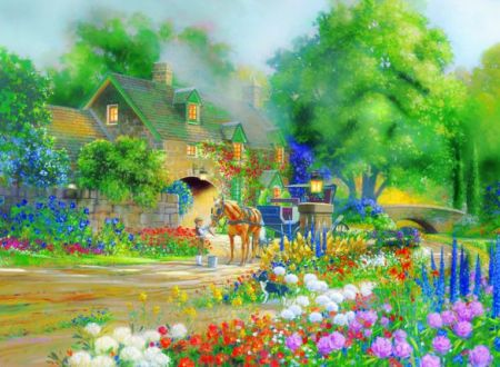 Cobble Hill 1000 pcs Puzzle - Roselane House