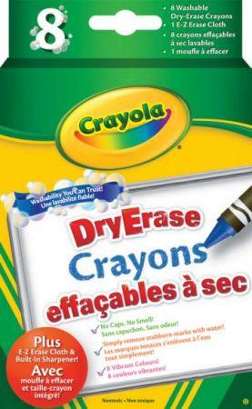 Crayola Dry-Erase Crayons 8 Colors
