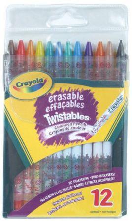Crayola Erasable Twistables Colored Pencils 12 Colors