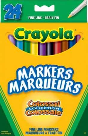 Crayola Markers Colossal Fine Line 24 Colors