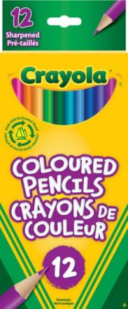 Crayola Coloured Pencils 12 Colors