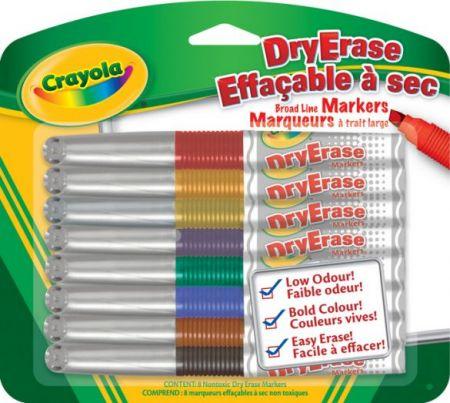 Crayola Markers DryErase Broad Line Markers 8 colors