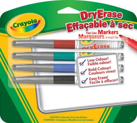 Crayola Markers DryErase Fine Line Markers 4 colors