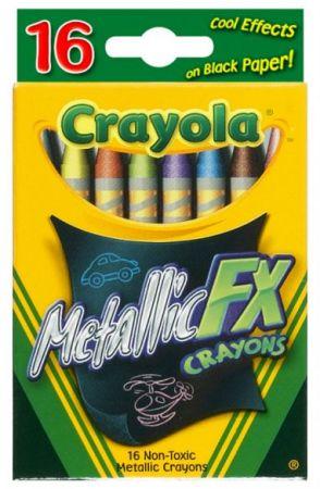 Crayola Metallic Crayons 16 Colors
