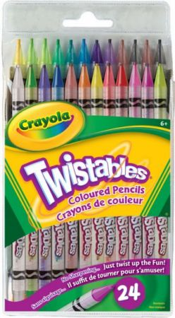 Crayola Twistables Colored Pencils 24 Colors