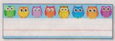 Desk Nameplates - Colorful Owls #122029