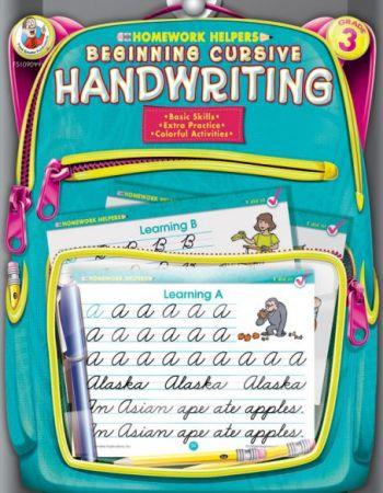 Homework Helper / Workbook Grade 3: Beginning Cursive Handwriting