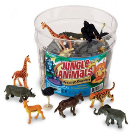 Jungle Animal Counters, Set of 60