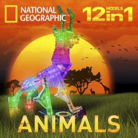 Laser Pegs National Geographic Animals - 12 in 1 Models Kit