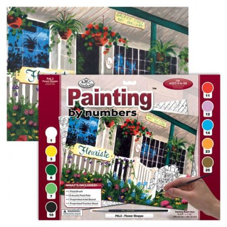 Painting By Numbers - 10 Colors Set : Flower Shoppe