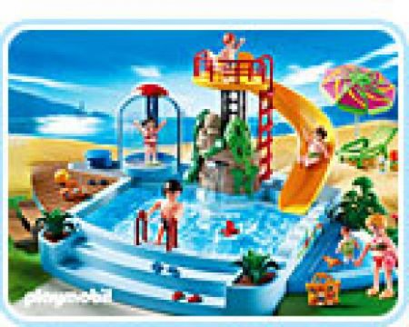 Playmobil 4858 Pool With Water Slide 4008789048585