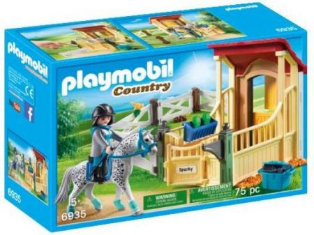 Playmobil #6935 - Horse Stable with Appaloosa