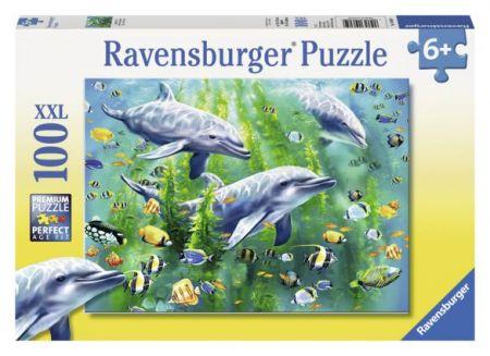 Ravensburger 100 pcs Puzzle - Dolphin Trio