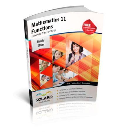 SOLARO Study Guide Mathematics 11 Functions — University Preparation (MCR3U)