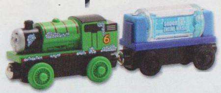 Thomas & Friends Wooden Railway - Percy & Engine Wash Car LC98089